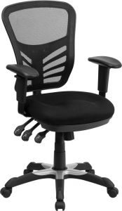 Mid-Back Mesh Swivel Task Chair with Triple Paddle Control