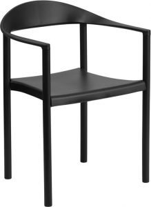 HUSKY Seating® 1000 LB Indoor-Outdoor Modern Accent Stacking Chair with Arms