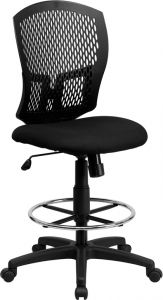 Designer Back Drafting Chair with Padded Seat