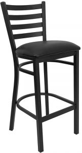 HUSKY Seating® Heavy Duty 500 LB Restaurant Bar Stool with Ladder Back