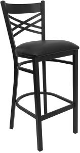 HUSKY Seating® Heavy Duty 500 LB Restaurant Bar Stool with X Back