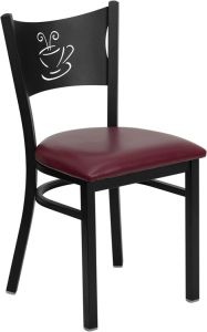 HUSKY Seating® Heavy Duty Coffee Cup Design 500 LB Restaurant Chair