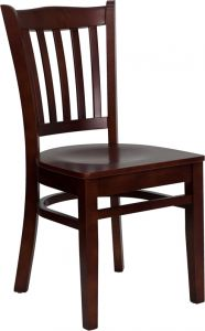 HUSKY Seating® Vertical Back 800 LB Restaurant Chair with Wood Seat