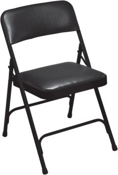 4 PACK National Public Seating 1200 Series Vinyl Padded Folding Chair