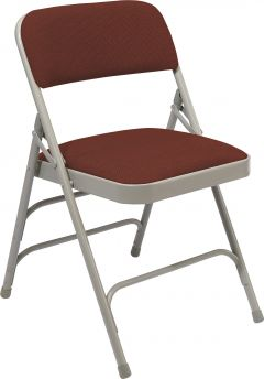 4 PACK National Public Seating 2300 Series Fabric Padded Metal Folding Chair Triple Brace