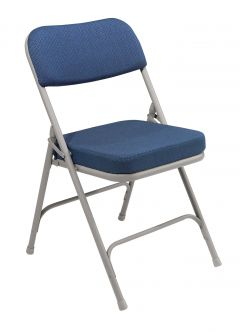 2 PACK National Public Seating 3200 Series Comfort Padded Metal Folding Chair