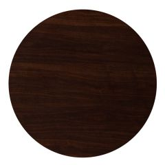 """Pro-Tough Commercial Round Resin Walnut Table Top-36"""" D"""