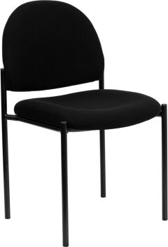 Armless Fabric Stacking Side Chair