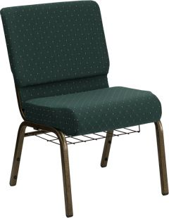 "HUSKY Seating® 800 LB Heavy Duty Auditorium Chair with Ganging & Book Rack - 21"" Wide"