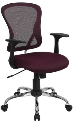 Ergonomic Mid-Back Mesh Swivel Office Chair with Lumbar Support