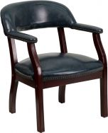 Brass Nail Trim Conference or Reception Side Chair
