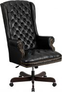 High Back Tufted Pillow Leather Executive Swivel Office Chair
