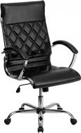 Modern Designer High Back Office Chair with Chrome Base & Padded Arms