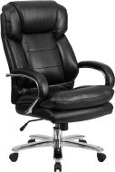 Samson Series Big & Tall 500 lb Black Leather Executive Office Chair