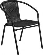 HUSKY Seating® 352 LB Rattan Indoor-Outdoor Restaurant Stack Chair
